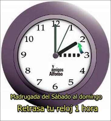 Cambio de hora - AlfonsoyAmigos