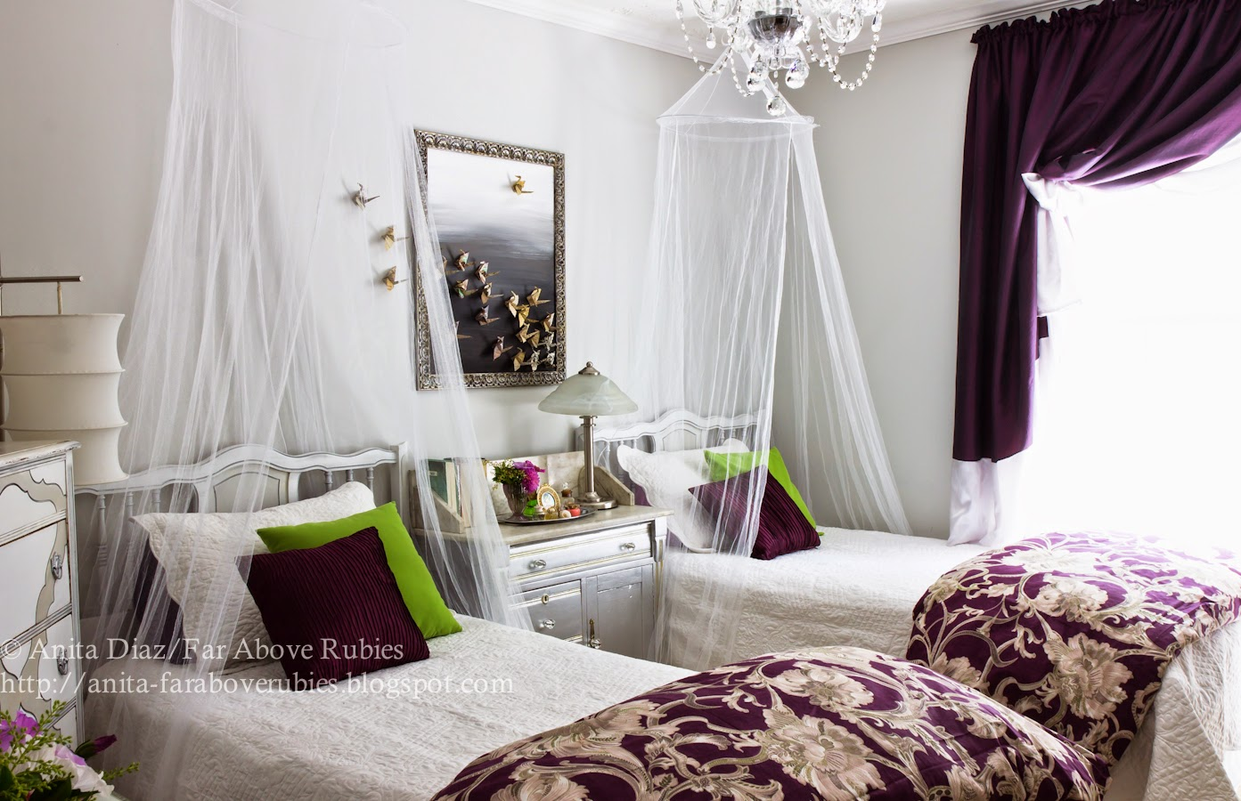 Far Above Rubies: Girls\' French bedroom reveal