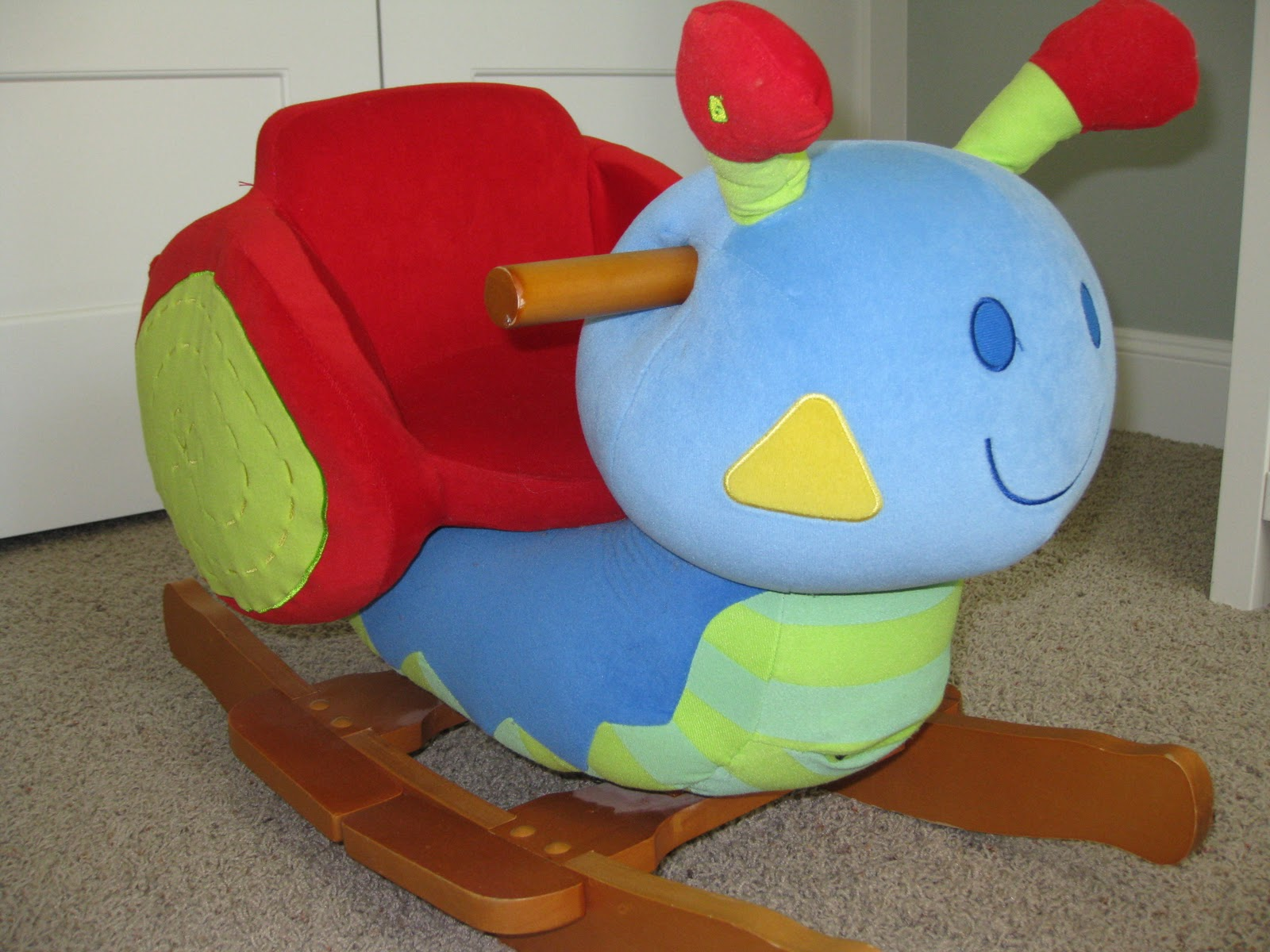 Mama And Papas Stanley The Snail Rocker $50. Full resolution  pic, nominally Width 1600 Height 1200 pixels, pic with #B6151F.