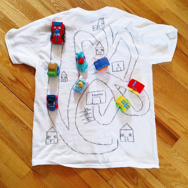 Le t-shirt piste d'auto! #DIY