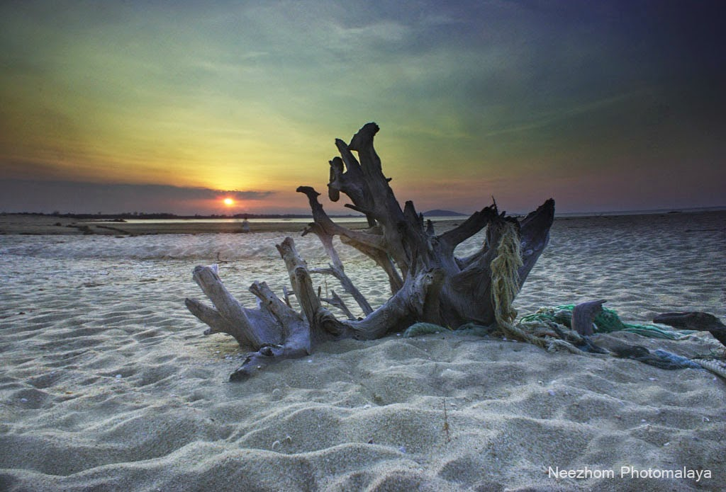 Sunset pantai Merang