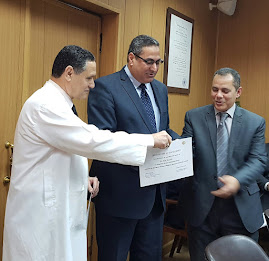Certificate of excellence to Professor Alaa Mosbah