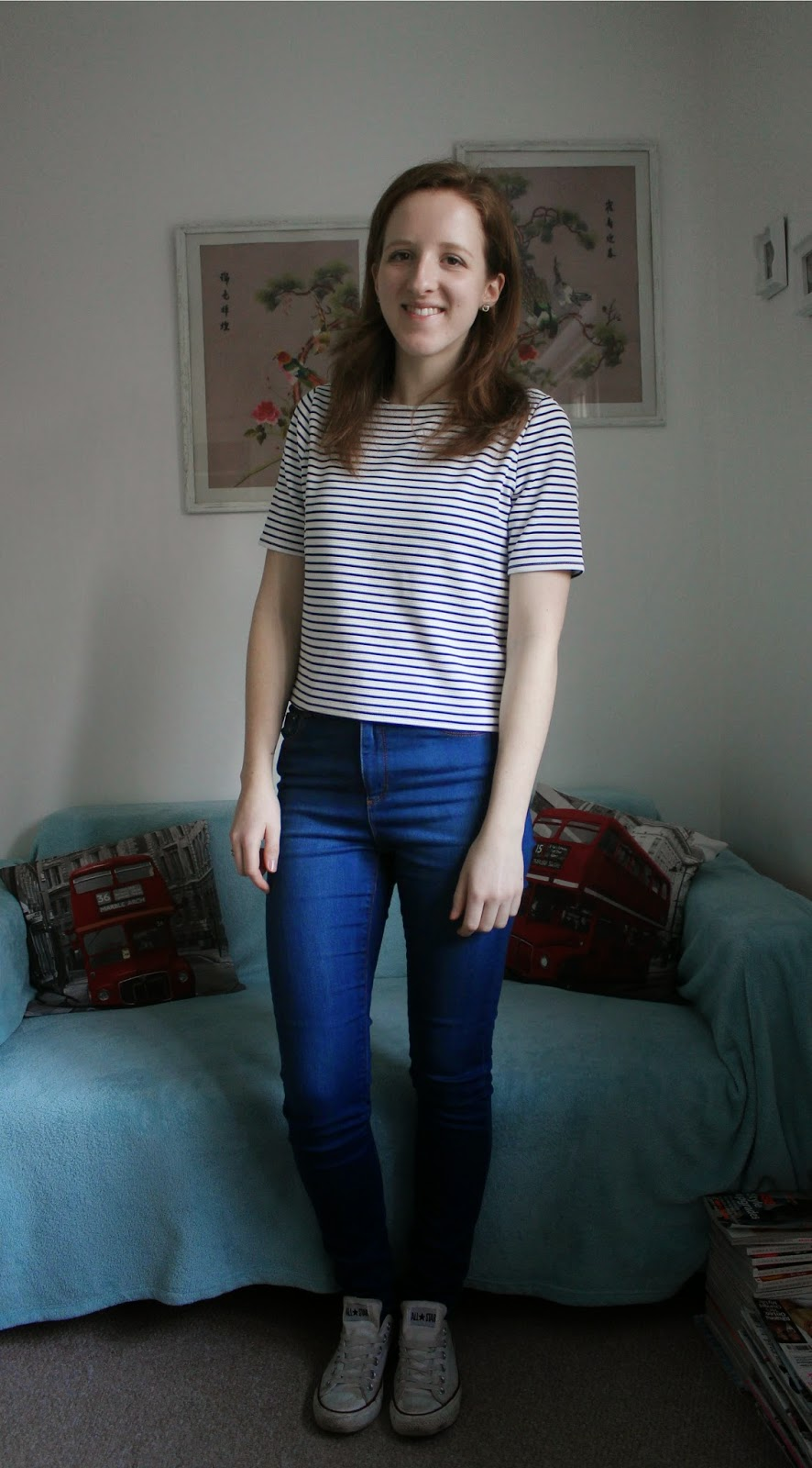 OOTD Primark Cropped T-Shirt and ASOS High Waisted Jeans