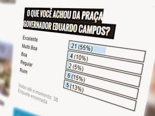 Enquete: O que você achou da Praça Eduardo Campos em Panelas-PE?