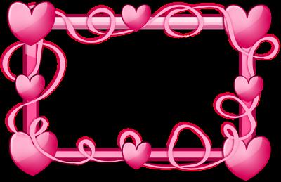 Pink Heart Border Clip Art