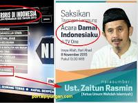 Fitnah Ustadz Zaitun, Metro TV Pantas disebut TV Islamophobia