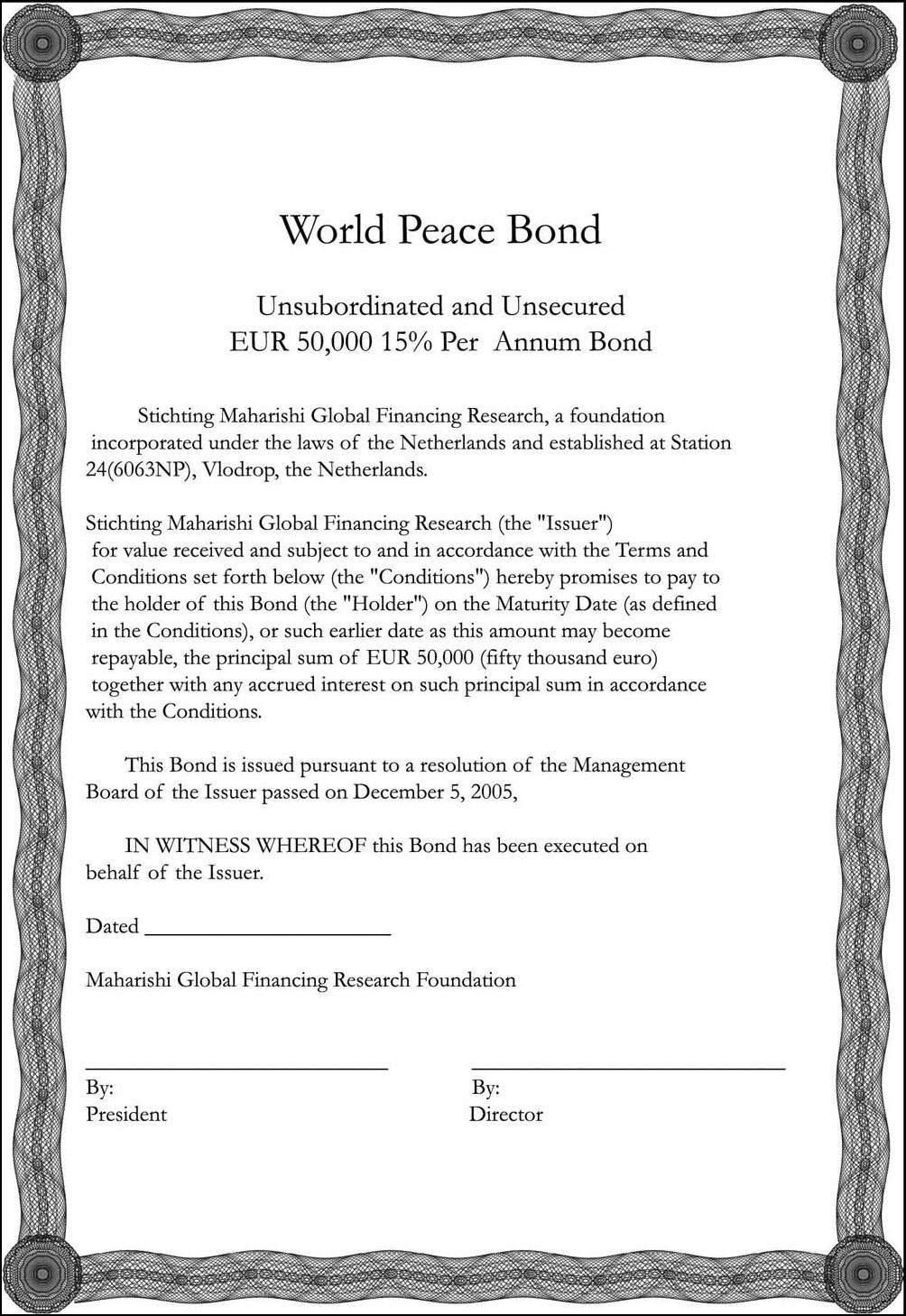 Contoh Surat Obligasi