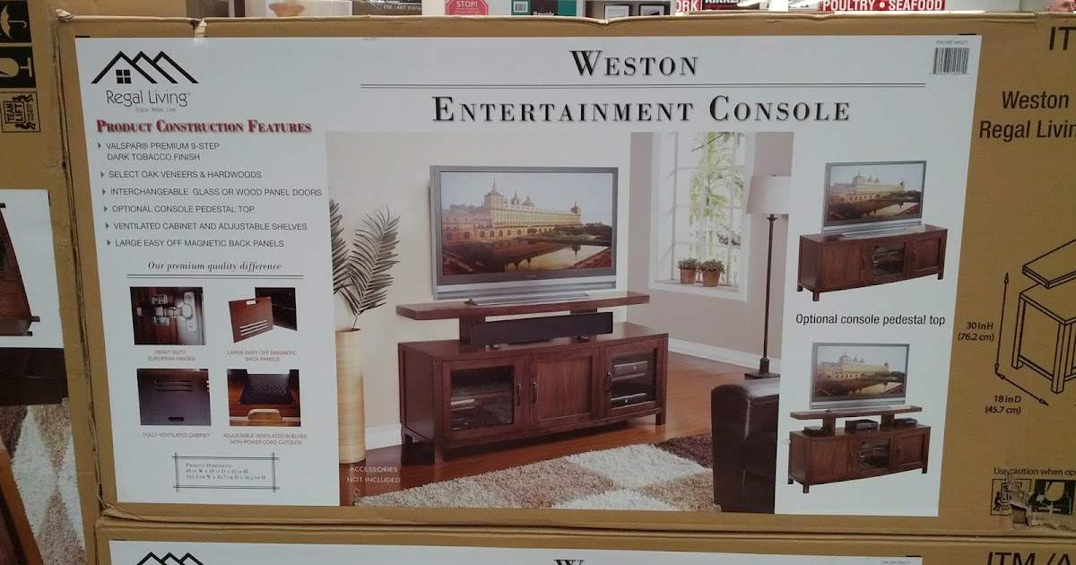 regal living weston entertainment console costco weekender