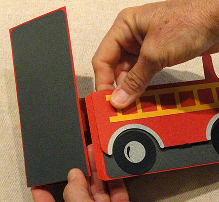 Needles 'n' Knowledge: Fire Truck Box Card Assembly