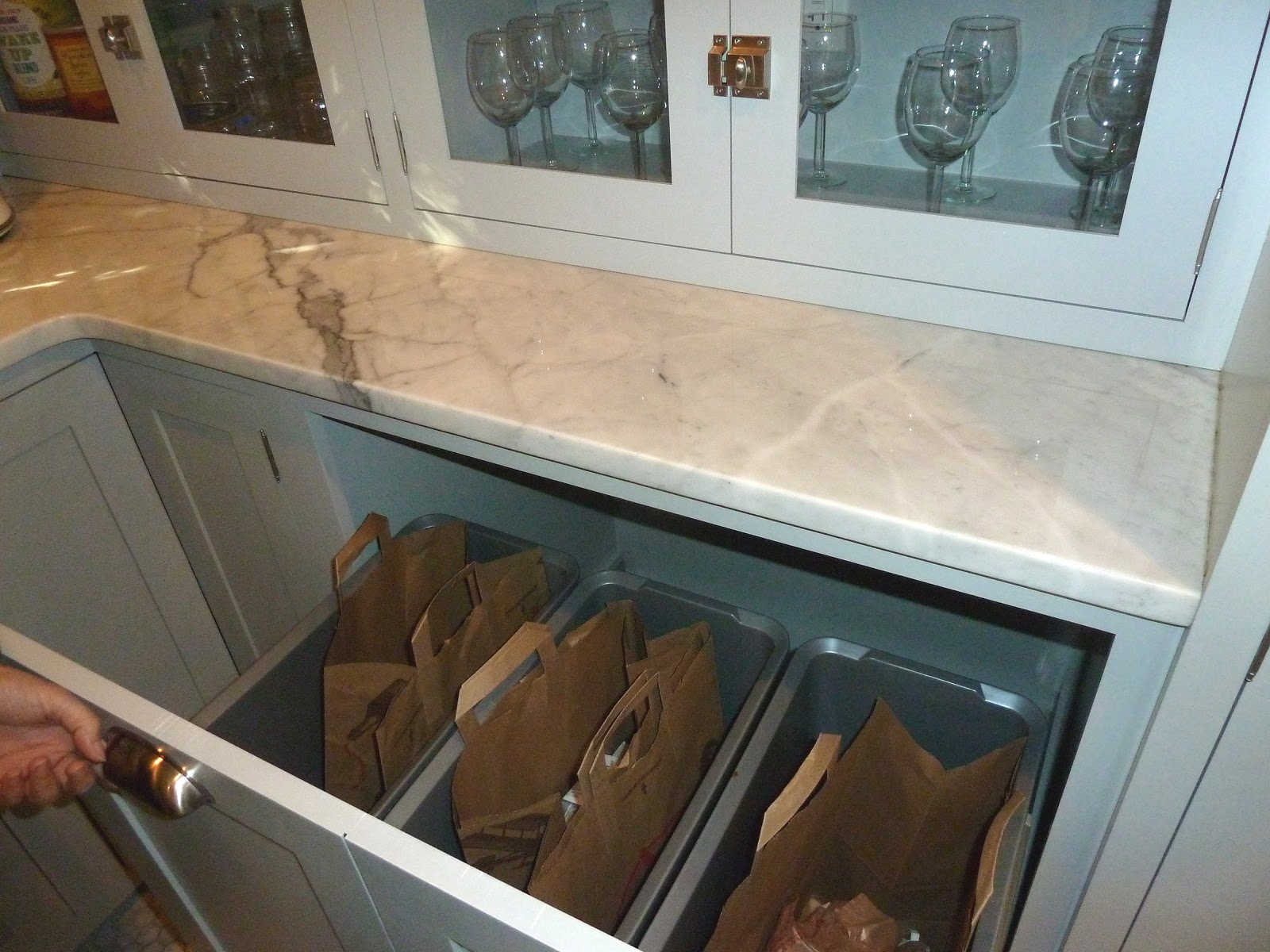 Kitchen Recycling Bins For Cabinets