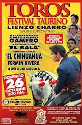 El Chihuahua, anunciado en el festival Rotario de Ciudad Juárez, el 26/10.