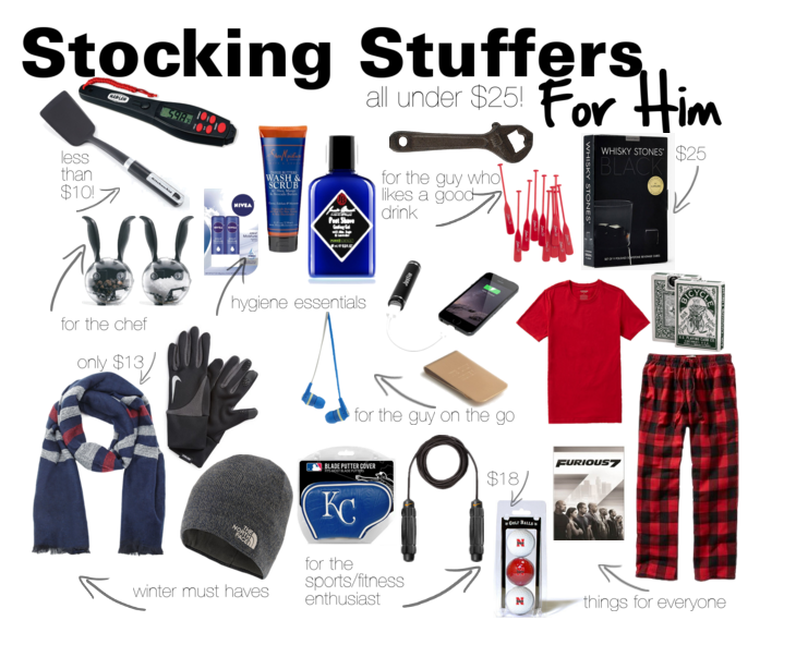 stocking stuffers for him all under $25