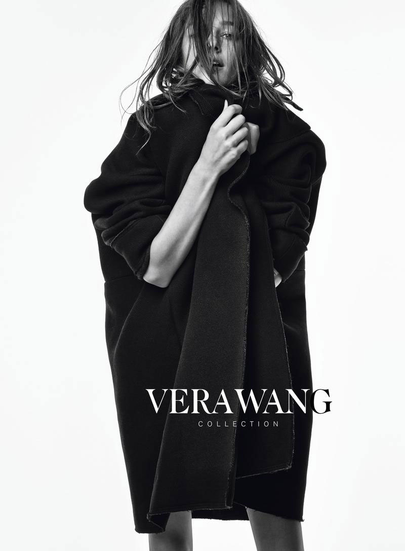 Josephine le Tutour in Vera Wang Fall/Winter 2014/15 campaign (photography: Patrick Demarchelier, styling: Pascal Dangin)