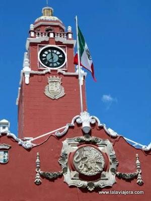 Torre Reloj Palacio Municipal Merida, Mexico