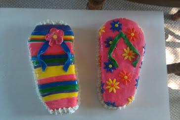Flip-Flop Birthday Cake