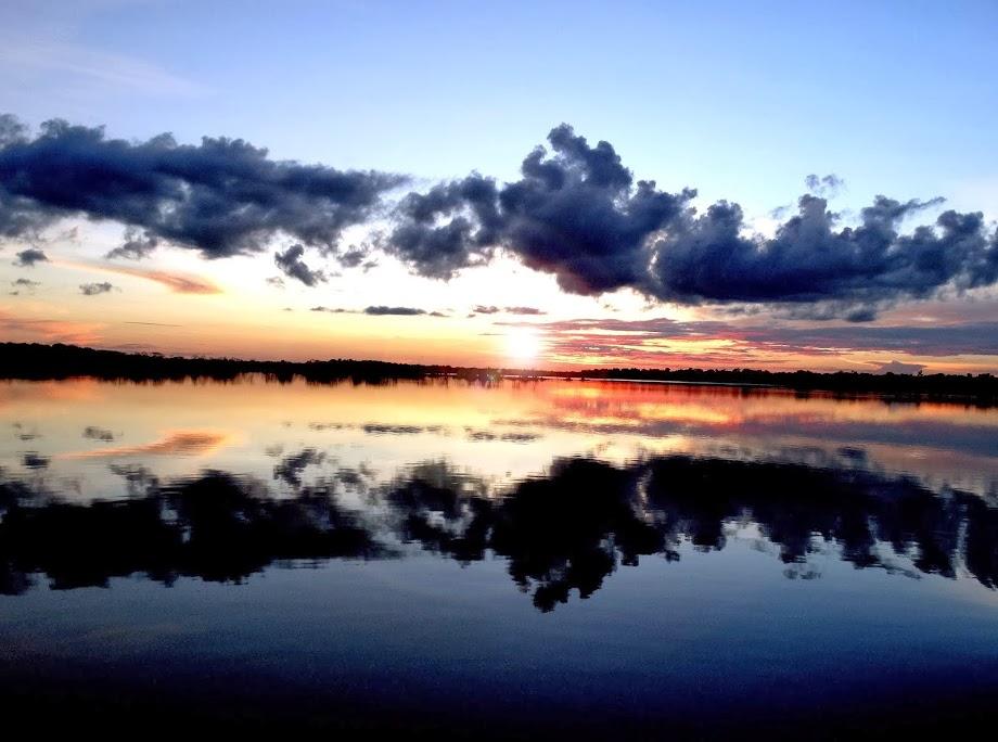 Pôr do sol - rio Purus-Amazonas