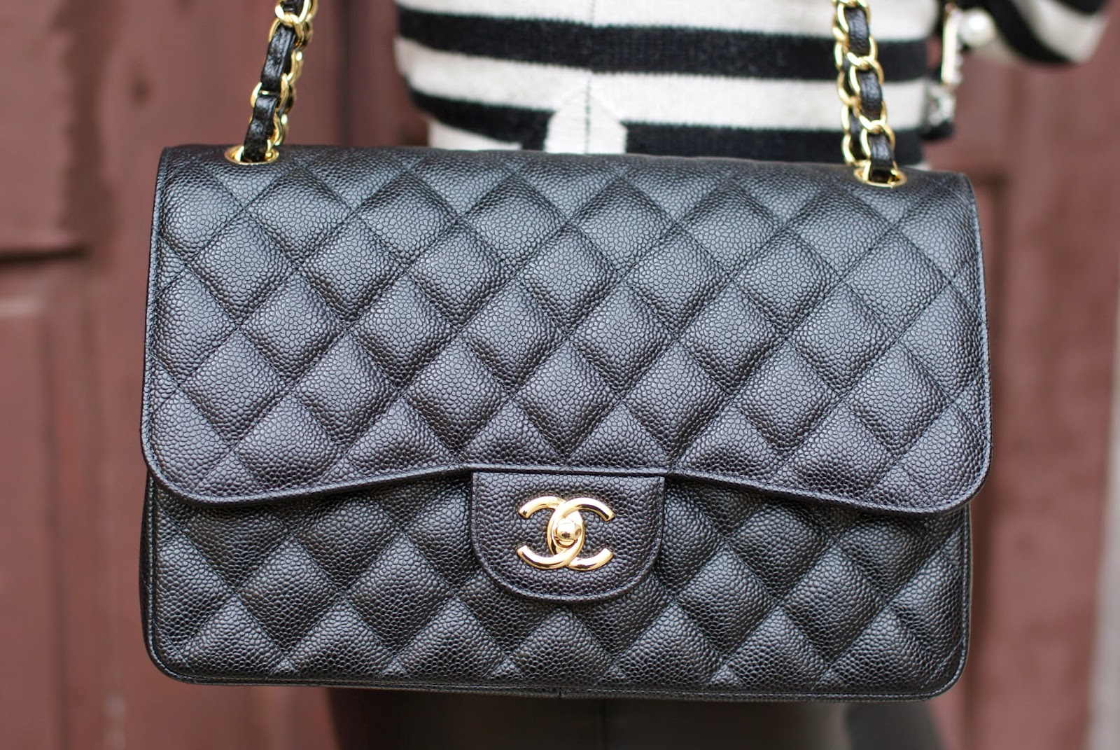 Chanel 2.55 classic flap in caviar leather, Fashion and Cookies, fashion blogger, fashion blog
