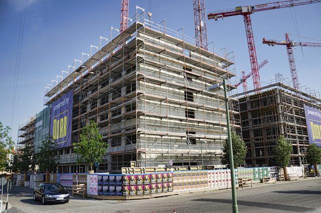 Baustelle Zalando und Holiday Inn und Office Campus, Mühlenstraße, 18.06.2013