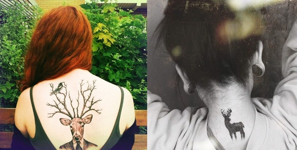 Pop Culture And Fashion Magic Tattoo Art The Deer And The Stag