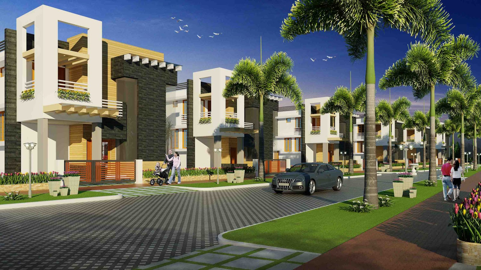 Shwas homes pvt ltd the most respected home builder in for Gardens and villa