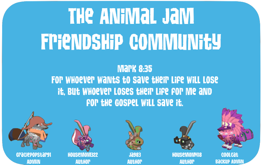 The Animal Jam Friendship Community
