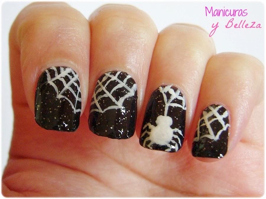 Manicuras Y Belleza Manis De Halloween Nail Art De Telaranas Y