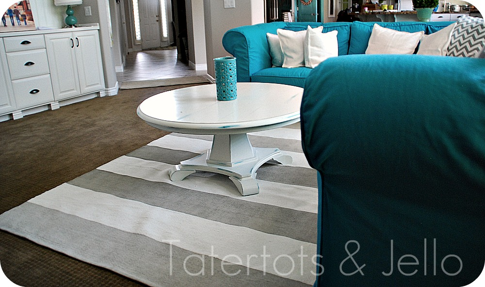 Pallet For Home Painted Striped Nautical Rug Tutorial