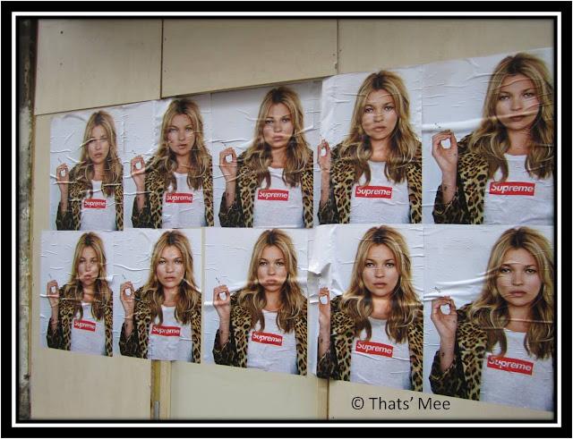 Kate Moss et Supreme, affiche Supreme