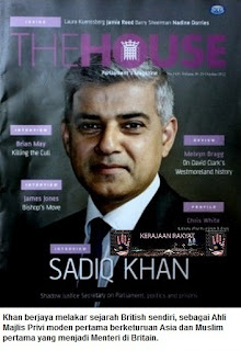 Sadiq Khan Menteri Muslim pertama di Britain