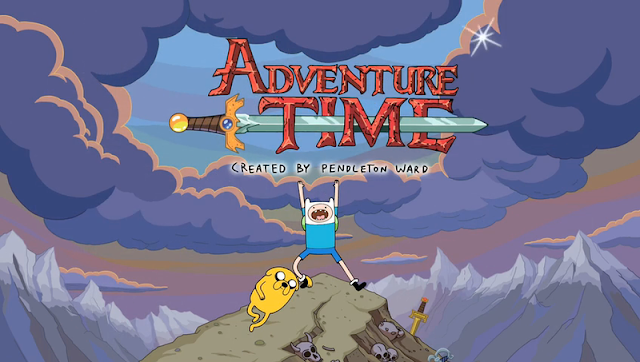 Title screen of cartoon Adventure Time