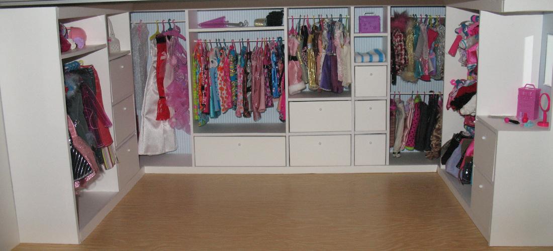 Un secreto llamado barbie primer paso del vestidor - Como revestir un armario ...
