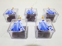 Lembrancinhas personalizadas temáticas Cinderela - Caixinhas