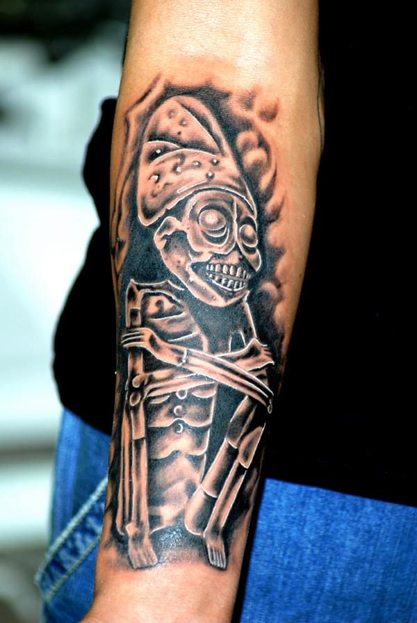 Tattoo art aztec tattoos mictlantecuhtli the lord of for Symbols of death tattoos