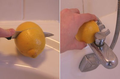 lemon juice is also effective against limescale deposits