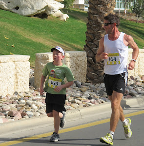 Logan and David in 5K Fun Run
