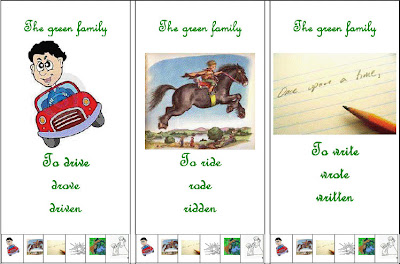 Ingilizce düzensiz fiilleri ezberlemek için kart oyunu