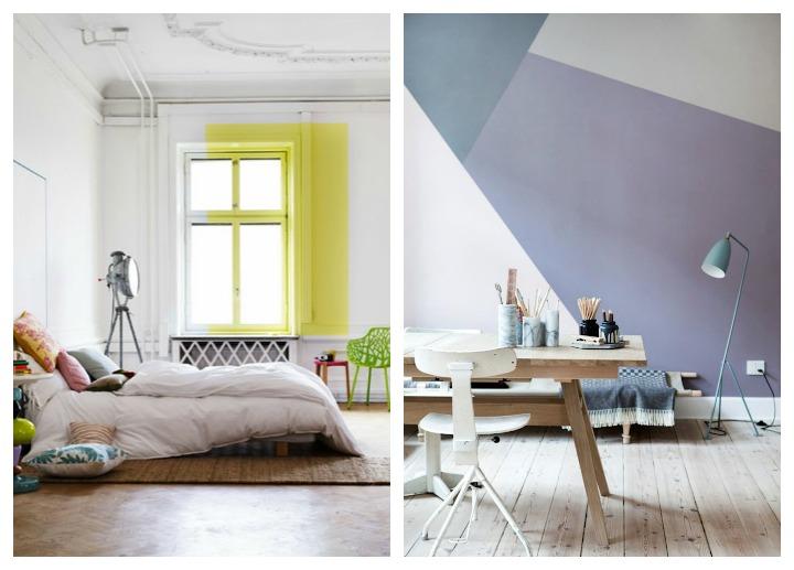 Geometr a en las paredes blog de decoraci n diy ideas - Paredes infantiles pintadas ...