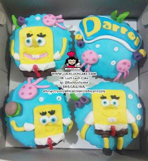 Cupcake Spongebob Fondant 2d