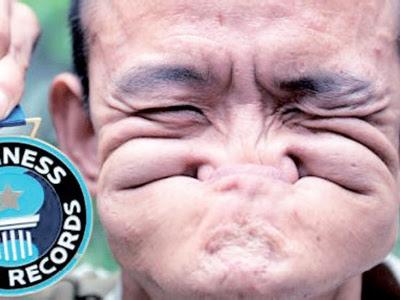 Jika dilihat sekali imbas, memek muka Shuquan ini kelihatan seperti watak animasi, Popeye The Sailor Man.