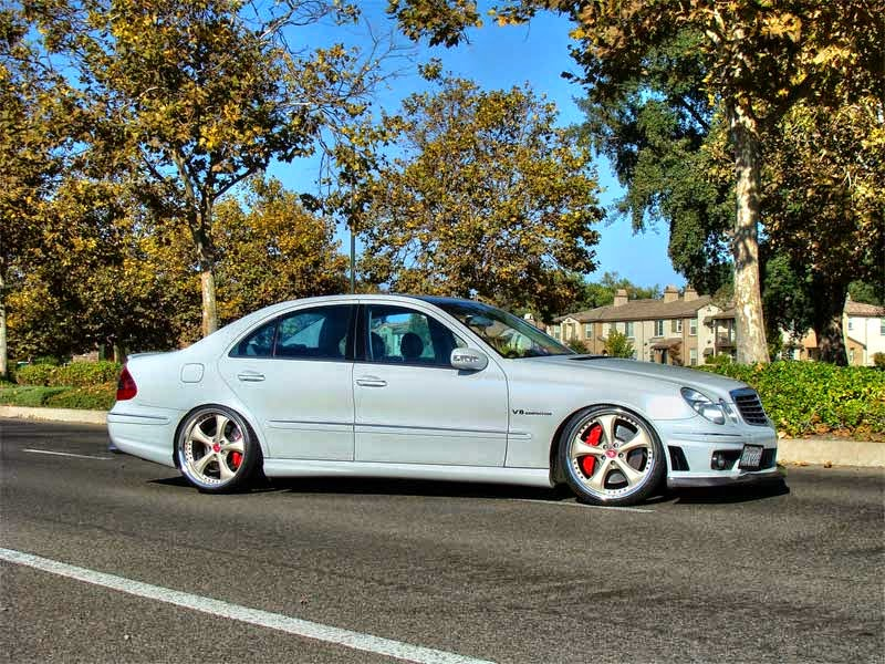 mercedes benz e55 amg w211 on work vs kf benztuning