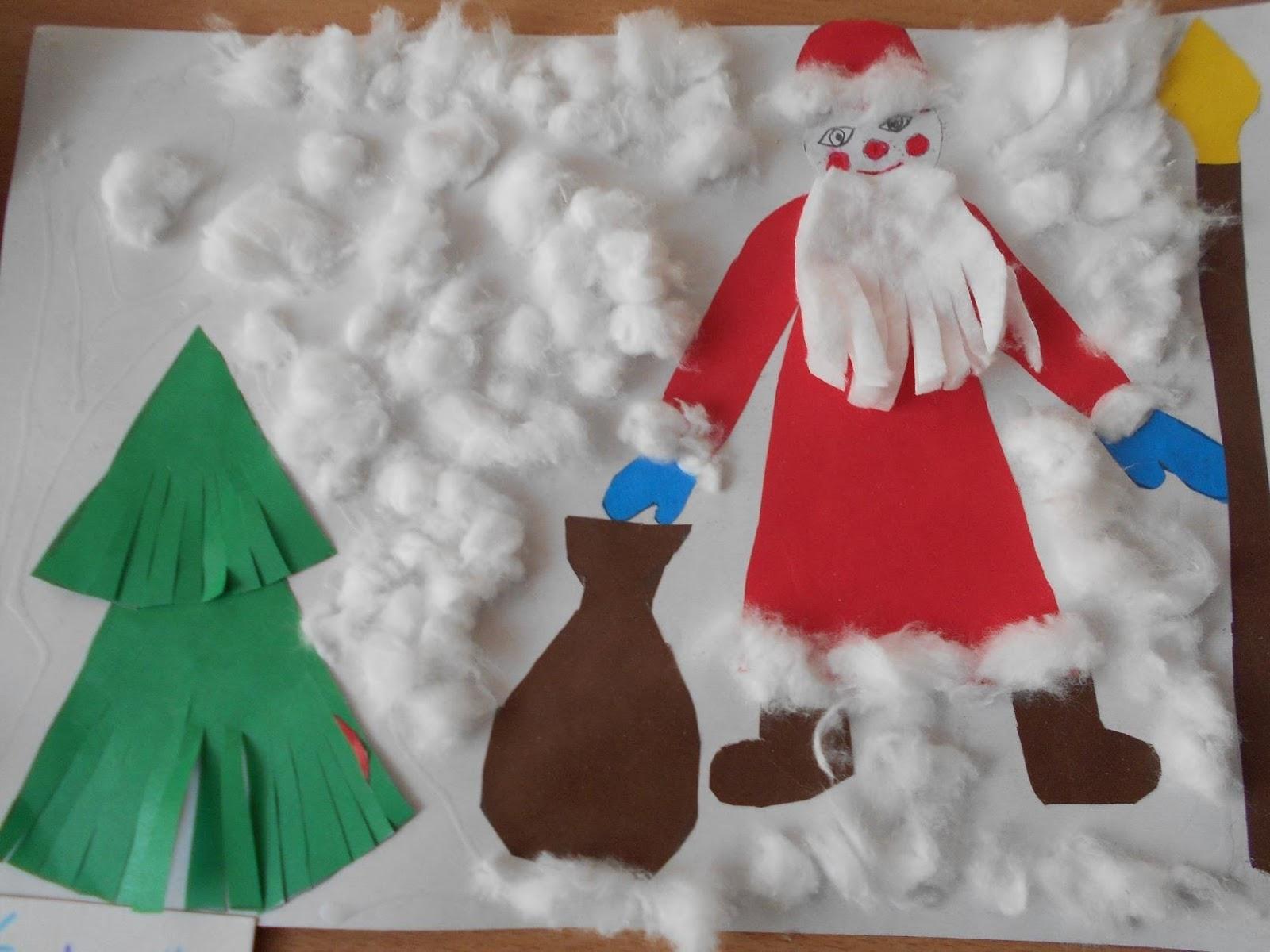 Поделки к новому году дед мороз