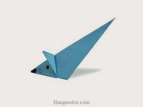 Cách gấp, xếp con chuột chạy bằng giấy origami - Video hướng dẫn xếp hình - How to make a Loitering Mouse