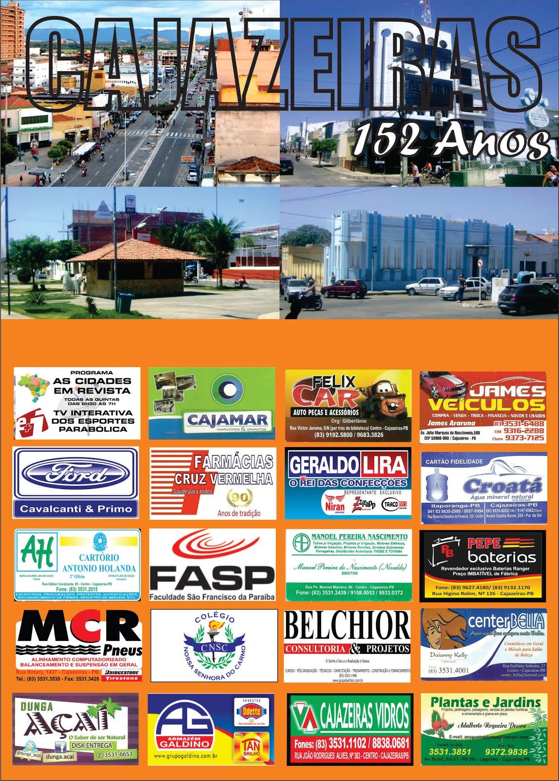 EM CARTAZ  LANÇAMENTO DA FESTA  DE ANIVERSÁRIO DE CAJAZEIRAS PB  152 ANOS