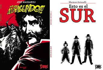 Libros ¡FACUNDO!, de Massaroli  y  ESTO ES EL SUR de Antonelli