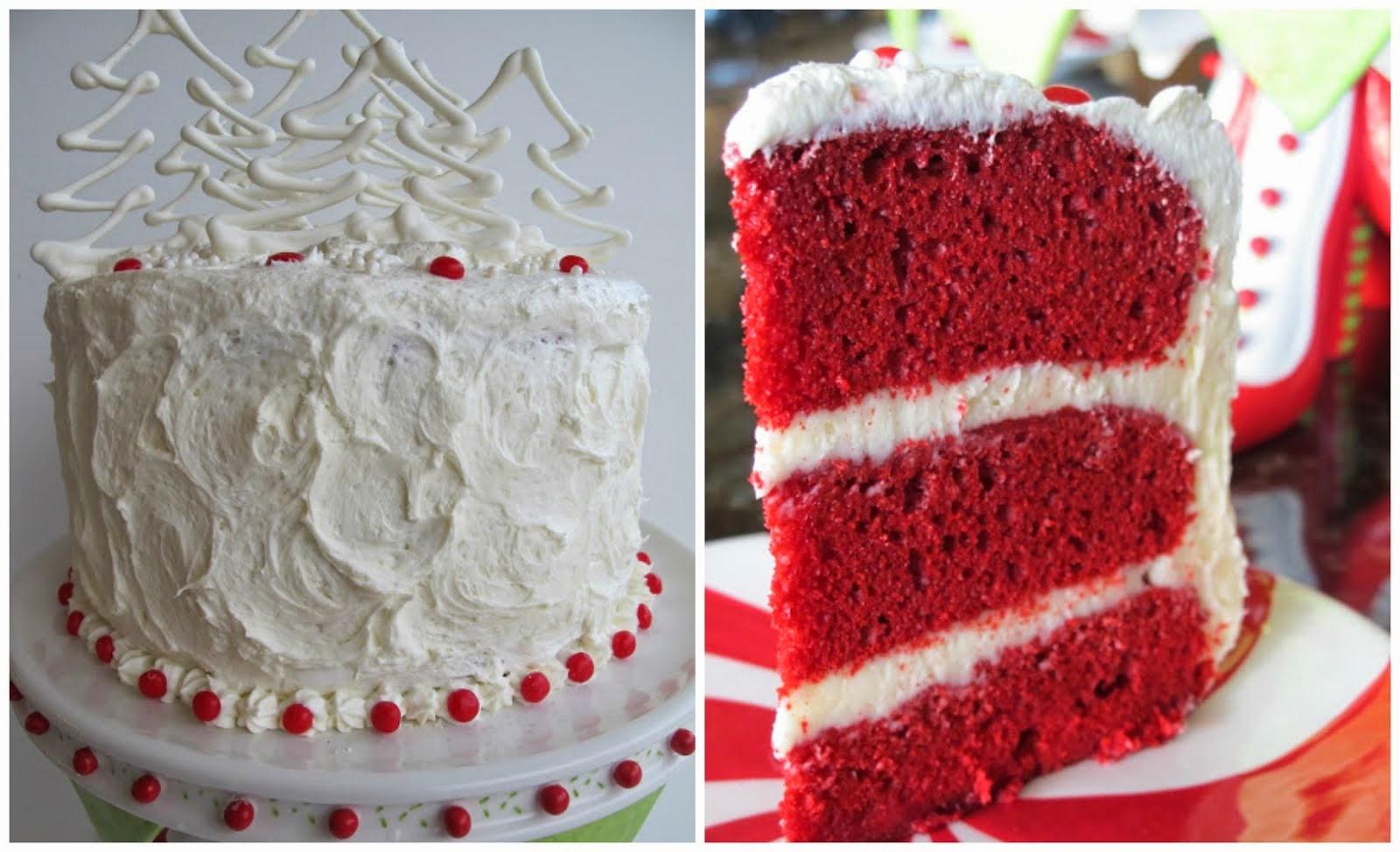 Christmas Red Velvet Cake