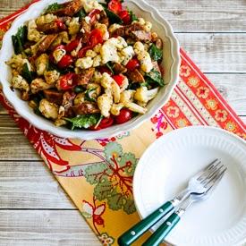 Roasted Cauliflower Salad with Italian Sausage, Tomatoes, Kale, and ...