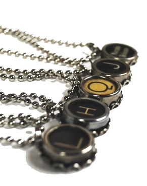 typewriter key, typewrtier key necklace, country living