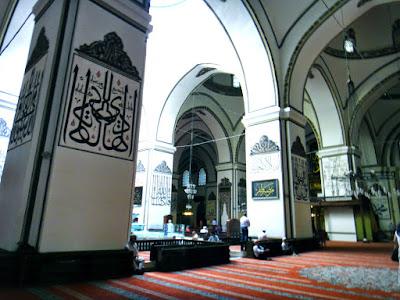Inside the Grand Mosque of Bursa Turkey Selcuk