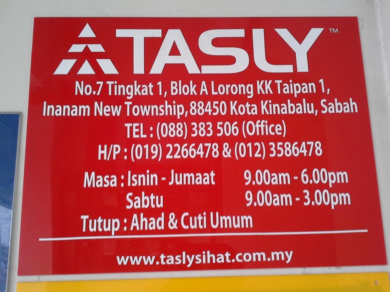 STOKIS TASLY SABAH