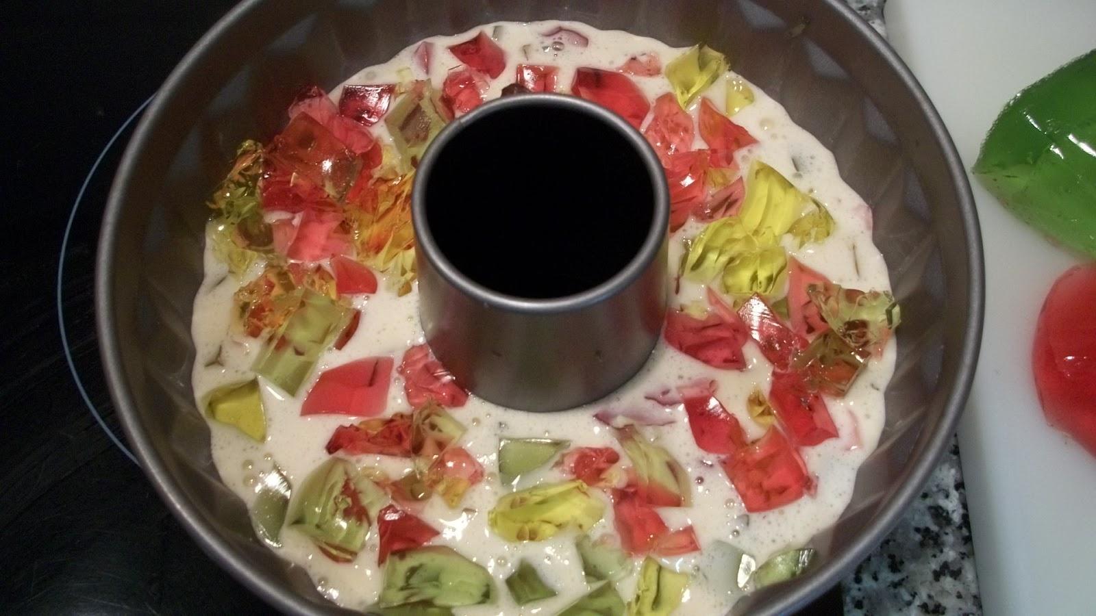 Mas que postres pastel mosaico refrescante - Postres con gelatina y leche condensada ...